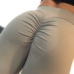 Women's grey workout leggings